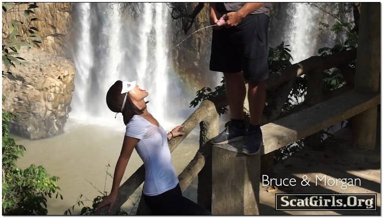 So Much Piss And Cum At The Waterfall - BruceAndMorgan